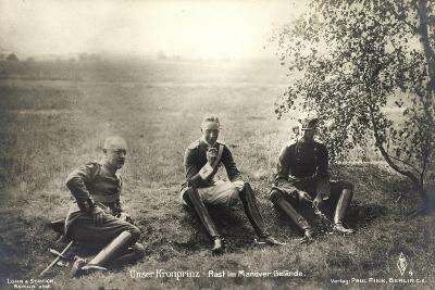 Kronprinz Friedrich Wilhelm, Rast Im Manövergelände--Giclee Print