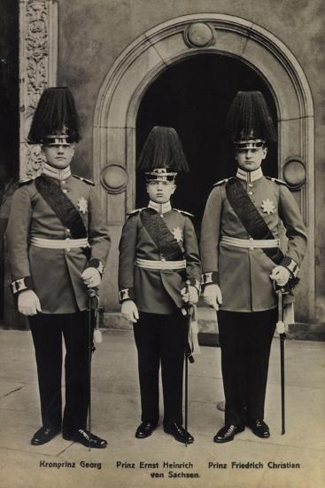 Kronprinz Georg,Heinrich V Sachsen, Friedr. Christian--Giclee Print