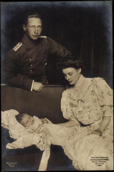 Kronprinz Wilhelm Mit Cecilie, Preußen,Sohn, Rph 1418--Giclee Print