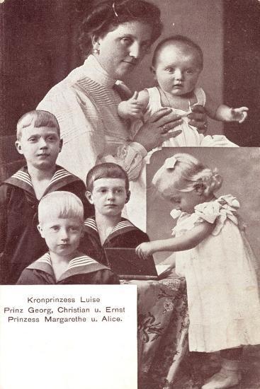 Kronprinzessin Luise, Prinz Georg,Christian,Ernst--Giclee Print