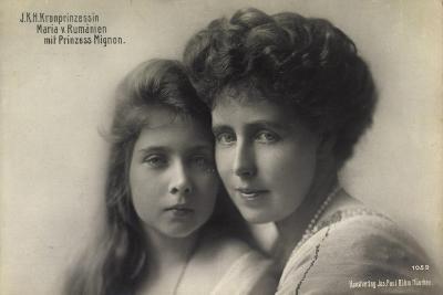 Kronprinzessin Maria V, Rumänien Mit Prinz, Mignon--Giclee Print