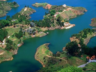 Aerial View of Embalse Del Penol, El Penon, Colombia