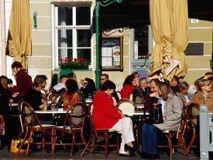 Alfresco, Outdoor Cafes on Town Hall Sqaure, Heart of City Life, Tallinn, Harjumaa, Estonia by Krzysztof Dydynski
