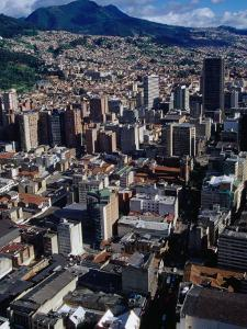 City Centre with South-Eastern Suburbs Visible in Background, Bogota, Colombia by Krzysztof Dydynski