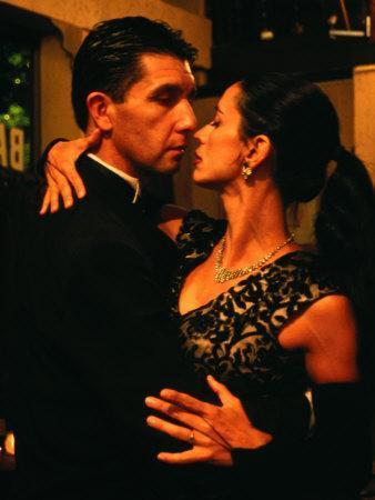 Couple Dancing Tango at Bar Sur, Estados Unidos 299, San Telmo, Buenos Aires, Argentina