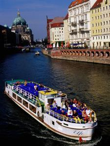 Cruise on Spree River with Berlin Cathedral (Berliner Dom) in Background, Berlin, Germany by Krzysztof Dydynski