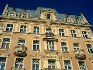 Facade of Art-Nouveau Building, Lodz, Lodzkie, Poland by Krzysztof Dydynski