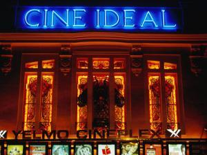 Facade of the Historic Building of the Cine Ideal, at Night, Madrid, Spain by Krzysztof Dydynski