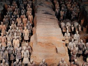 Life Size Terracotta Soldiers in Battle Formation, Xi'an, Shaanxi, China by Krzysztof Dydynski