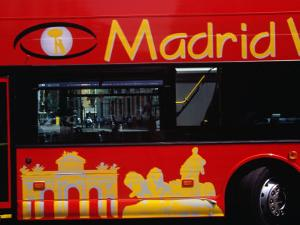 Madrid Sightseeing Bus, Madrid, Spain by Krzysztof Dydynski
