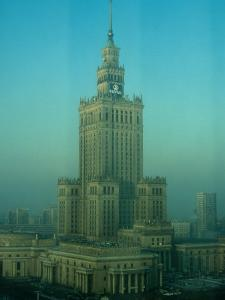 Palace of Science and Culture in Haze, Warsaw, Poland by Krzysztof Dydynski