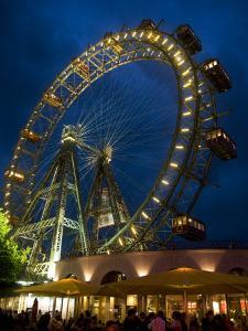 Riesenrad (Giant Ferris Wheel) at Prater by Krzysztof Dydynski