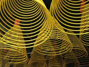 Spirals of Joss at A-Ma Temple by Krzysztof Dydynski