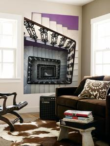 Staircase in Purple Nest Hostel by Krzysztof Dydynski