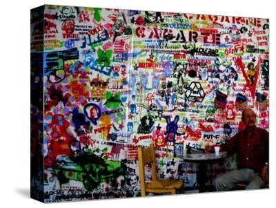 Stencil Graffiti in Centro Cultural Recoleta, Buenos Aires, Argentina