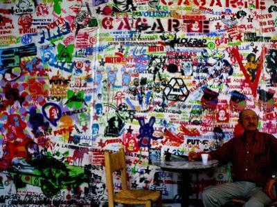 Stencil Graffiti in Centro Cultural Recoleta, Buenos Aires, Argentina by Krzysztof Dydynski