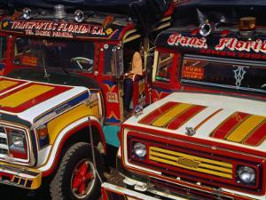 Traditional Colombian Chivas Buses with Painted Wooden Bodies, Pereira, Risaralda, Colombia by Krzysztof Dydynski