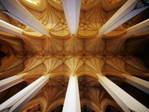 Vault Ceiling in 15th-Century Frauenkirche (Church of Our Lady), Munich, Germany by Krzysztof Dydynski
