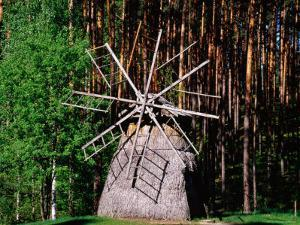 Windmill, Open-Air Ethnographic Museum, Riga, Latvia by Krzysztof Dydynski