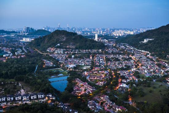 Kuala Lumpur skyline at night seen from Bukit Tabur Mountain, Malaysia, Southeast Asia, Asia-Matthew Williams-Ellis-Photographic Print