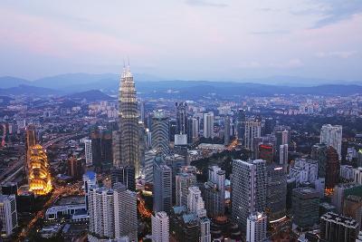 Kuala Lumpur Skyline Seen from Kl Tower, Kuala Lumpur, Malaysia, Southeast Asia, Asia-Jochen Schlenker-Photographic Print