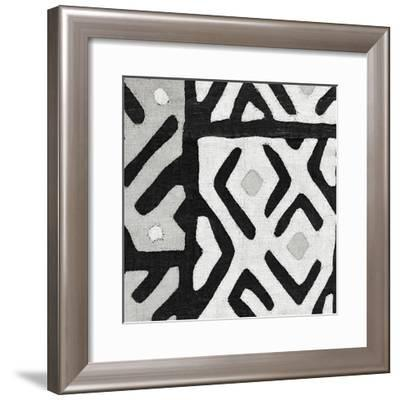 Kuba Cloth I Square I BW-Wild Apple Portfolio-Framed Art Print