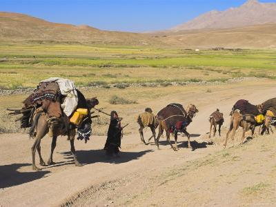 Kuchie Nomad Camel Train, Between Chakhcharan and Jam, Afghanistan-Jane Sweeney-Photographic Print