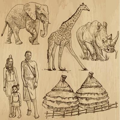 From the Traveling Series: South Africa - Collection of an Hand Drawn Illustrations