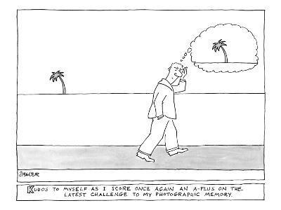 """Kudos"" - New Yorker Cartoon-Jack Ziegler-Premium Giclee Print"