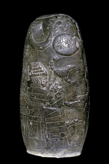 Kudurru (boundary stone) of Nazimatrut-Tash. Artist: Unknown-Unknown-Giclee Print