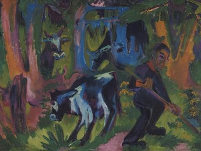 Kuehe Im Wald, 1920/21-Ernst Ludwig Kirchner-Giclee Print