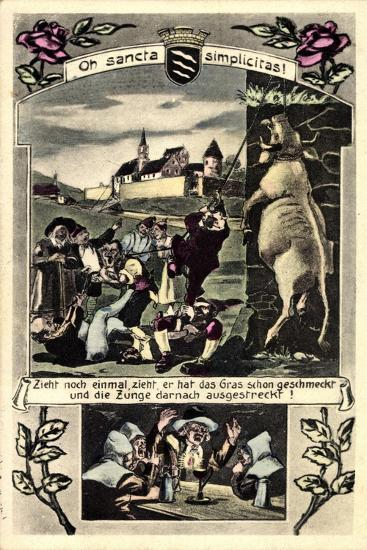 Künstler Beckum Krs. Warendorf, Männer Die Einen Bullen Hängen--Giclee Print