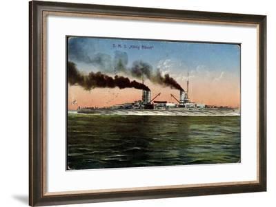 Künstler Blick A. Deutsche Kriegsschiff König Albert--Framed Giclee Print