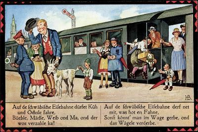Künstler Boettcher, Hans, Schwäbische Eisebahne, Wägele, Gaisbock--Giclee Print