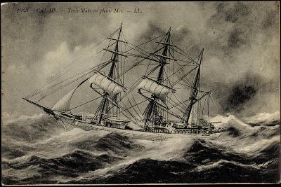 Künstler Calais,Trois Mâts En Pleine Mer, Segelschiff--Giclee Print