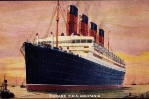 Künstler Cunard Line, R.M.S Aquitania Arriving
