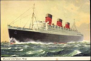 Künstler Cunard Line, R.M.S. Queen Mary, Dampfschiff