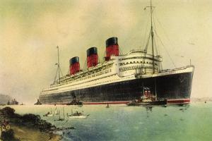 Künstler Cunard Line, R.M.S. Queen Mary, White Star