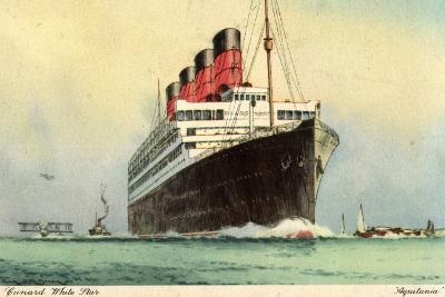 Künstler Cunard White Star, Dampfschiff Aquitania--Giclee Print