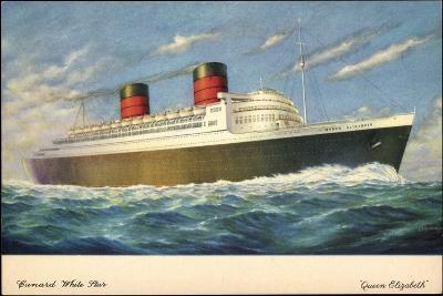 Künstler Cunard White Star Line, Queen Elisabeth--Giclee Print