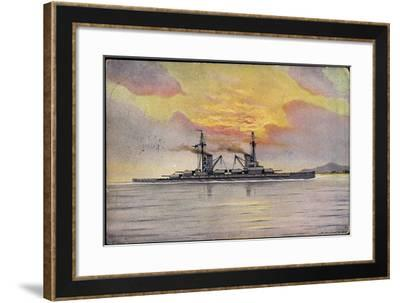 Künstler Dehlwein, S.M.S. König Albert, Kriegsschiff--Framed Giclee Print