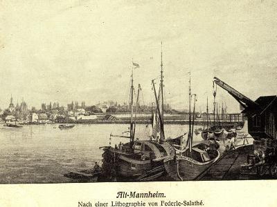 Künstler Federle, Salathé, Mannheim, Altstadt, Hafen--Giclee Print