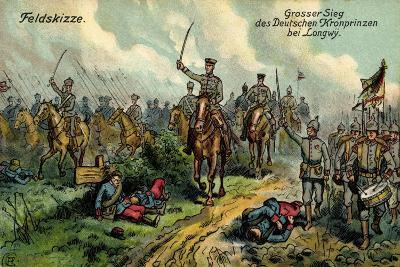 Künstler Feldskizze, Großer Sieg, Kronprinz, Longwy--Giclee Print