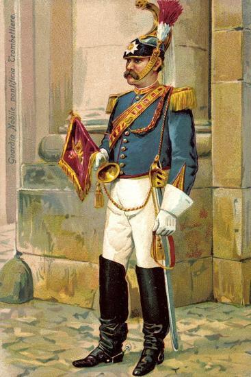 Künstler Guardia Nobile Pontificia Trombettiere, Trompeter, Vatikan--Giclee Print