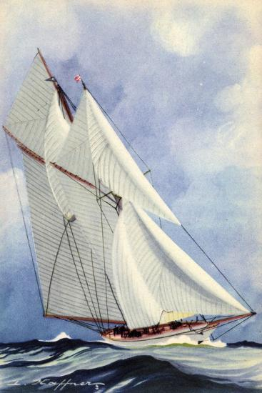 Künstler Haffner, L., Goélette Latine, Segelboot--Giclee Print