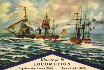 Künstler Historie De La Locomotion, Paquebot Mixte--Giclee Print