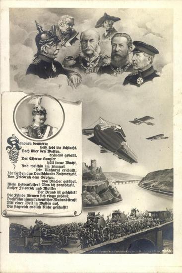Künstler Hohenzollern, Preußische Kaiser, Zeppelin--Giclee Print