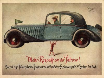 Künstler Jagd, 3Gr Pulver Jagdpatrone, Automobil--Giclee Print