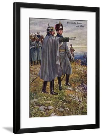 Künstler Kaier Wilhelm II, Kronprinz, Sorbey 1914,Munk--Framed Giclee Print