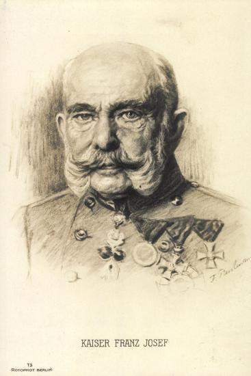 Künstler Kaiser Franz Josef I. Von Österreich, Rph 13--Giclee Print